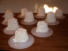 marshmallow igloos could also do with cotton balls little crafters