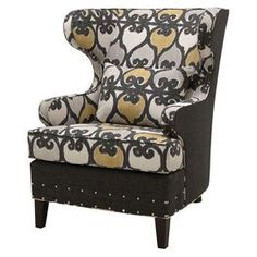 Sussex Wingback Chair - old fashioned but the colors make it kinda edgy n modern