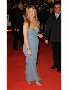 Jennifer Aniston Style Trick: Keep An Eye On Color Jen mirrored the intensity of her blue-gray eyes by choosing a shirred Burberry dress of the same color, a subtle trick that made a big impact.  Photo Credit: Getty Images (Courtesy: iVillage)  via @AOL_Lifestyle Read more: http://www.aol.com/article/2012/10/16/jennifer-aniston-style-her-best-fuss-free-fashion-looks/20503354/?a_dgi=aolshare_pinterest#fullscreen