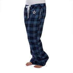 Stay cozy in NFL Dallas Cowboys Daisy Flannel Pants from shop.dallascowboys.com