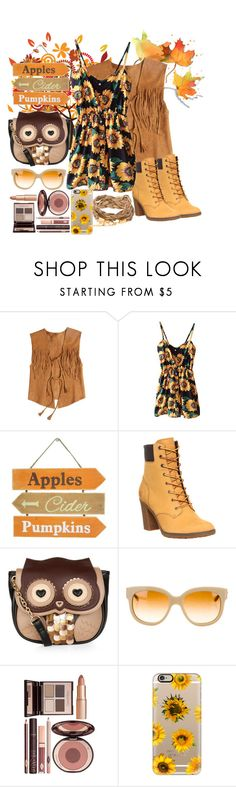 """""""Flowers In Summer"""" by yasminnala ❤ liked on Polyvore featuring Calypso St. Barth, Timberland, Accessorize, STELLA McCARTNEY, Charlotte Tilbury, Casetify, women's clothing, women, female and woman"""