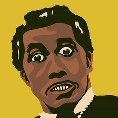 Portrait of the original shocking rocker Screamin' Jay Hawkins #illustration #people #portrait #musician #icon #shockrocker #rocknroll #iputaspellonyou