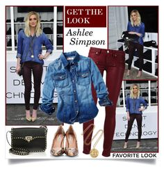 """Get The Look: Ashlee Simpson"" by annabu ❤ liked on Polyvore"