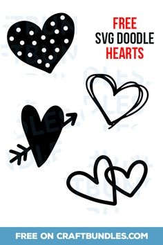 FREE Doodle Hearts