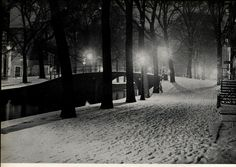 1937. Snow-covered canal in Amsterdam. #amsterdam #1937 #canal