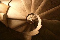 Staircase by Sagrada Familia, Antonio Gaudi