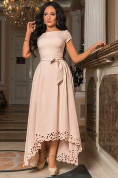 Gorgeous Hollowed-Out Hem Asymmetrical Dress with Sash (US Sizes XS-XL) Source by dresses Unique Dresses, Stylish Dresses, Elegant Dresses, Pretty Dresses, Vintage Dresses, Beautiful Dresses, Awesome Dresses, Long Dress Fashion, African Fashion Dresses