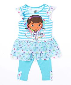 Look what I found on #zulily! Blue Doc McStuffins Dress & Leggings - Toddler by Doc McStuffins #zulilyfinds