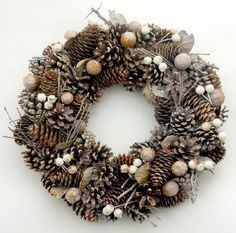 Holidays Archives - Page 5 of 14 - Decor Arts Now Pine Cone Christmas Decorations, Christmas Advent Wreath, Christmas Arts And Crafts, New Years Decorations, Holiday Wreaths, Christmas Diy, Holiday Decor, Pine Cone Crafts, Merry Christmas And Happy New Year