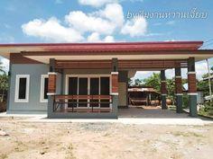 บ้านชั้นเดียว สไตล์โมเดิร์น ขนสด 2 ห้องนอน งบ 460,000 บาท Modern House Philippines, Bungalow, Pergola, Outdoor Structures, House Design, Outdoor Decor, Home Decor, Design Ideas, Houses