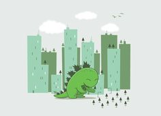 Image shared by badbug's. Find images and videos about green, illustration and dinosaur on We Heart It - the app to get lost in what you love. Cute Tshirts, Cool T Shirts, Plant Design, Go Green, Trees To Plant, Tree Planting, Art Pictures, Vector Art, Animal Illustrations