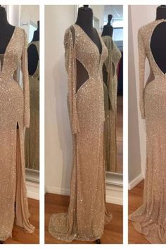Charming Prom Dress,Long Evening Dress,Backless Evening Gown,Formal Evening Dress,Prom Dresses,Sparkle evening gowns