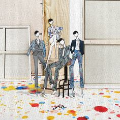 Illustration.Files: Dior Homme S/S 2015 Fashion Illustration by JSK