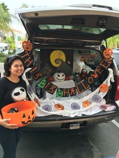 """My """"Nightmare before Christmas"""" trunk for Trunk or Treat 2015 Highpoint Church Harvest Festival  I'm so pleased with how this turned out."""