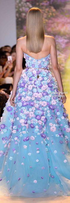 Zuhair Murad Spring 2014 Haute Couture Dress Couture, Couture Fashion, Runway Fashion, High Fashion, Floral Fashion, Designer Gowns, Zuhair Murad, Beautiful Gowns, Dream Dress