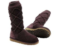 Fig Classic Argyle Knit UGG Boots..Much better style then the furry big ones...