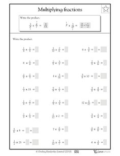 math worksheet : multiplying fractions fractions worksheets and fractions on pinterest : Multiplication Fraction Worksheets
