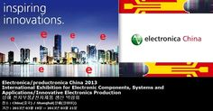 Electronica/productronica China 2013 International Exhibition for Electronic Components, Systems and Applications/Innovative Electronics Production 상해 전자부품/전자제품 생산 박람회