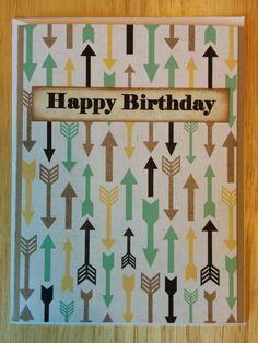 Arrow Gov'nor Happy Birthday Card by Cindysnoopy on Etsy, $3.50