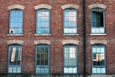 A Victorian warehouse converted into residential units in the centre of Nottingham, Nottinghamshire, England. Every window the same, yet also just a little bit different. Taken on September Nottingham, Warehouse, Facade, Centre, Multi Story Building, September, England, Victorian, The Unit