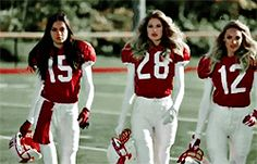 Victoria's Secret Angels Play Football  Behati Prinsloo, Lily Aldridge, Doutzen Kroes, Candice Swanepoel, Adriana Lima (gif made by me)