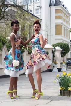 African wedding bridesmaid dresses.....makes me laugh but at the same time I like the idea ;)