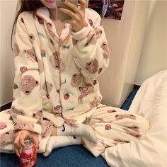 Kpop Fashion Outfits, Ulzzang Fashion, Korean Fashion, Girl Outfits, Cute Pajama Sets, Cute Pajamas, Pajamas Women, Kawaii Fashion, Cute Fashion