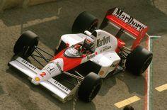 Alain Prost (Mclaren-Honda) vainqueur du Grand Prix d'Angleterre - Silverstone 1989 - en bas au Grand Prix d'Espagne - Jerez 1989 - Formula 1 HIGH RES photos (Old and New).