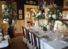 Our friend Mary Carol always does a fantastic dining room!