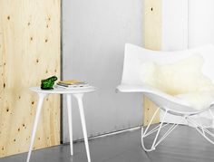 Stingray rocking chair and Icicle side table by Thomas Pedersen from Fredericia Furniture