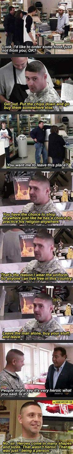 Good guy soldier...