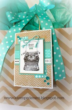 Karen Pedersen: Baby Boy Card with the April Stamp of the Month