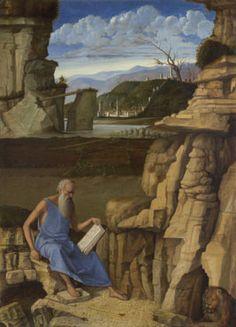 Giovanni Bellini: 'Saint Jerome reading in a Landscape'