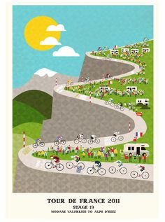 Beautiful Tour De France posters from http://www.crayonfire.co.uk/#1679033/Tour-de-France-Series-Scroll-Down