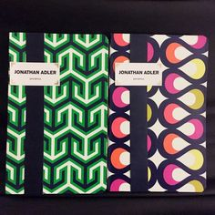 Jonathan Adler Set of 2 Journal Notebooks Set of 2. Inside the back cover of each journal is a pocket (can hold receipts or papers). Jonathan Adler Other