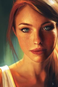I really like the colors in this portrait. They really draw me in and creates movement through the picture.
