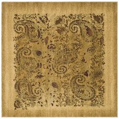$127 Safavieh Lyndhurst Traditional Paisley Beige/ Multi Rug (8' x 8' Square) - Free Shipping Today - Overstock.com - 12913165