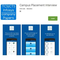 Campus Placement Interview Questions.Aptitude Topic wise preparation App. https://play.google.com/store/apps/details?id=com.in22labs.companypattern&hl=en