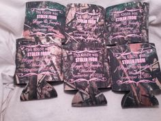 Camo Wedding Koozies Design 2619 by odysseycustomdesigns on Etsy