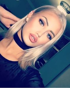 Imagem de beautiful, beauty, and blonde Flawless Makeup, Beauty Makeup, Hair Makeup, Hair Beauty, Mua Makeup, Alena Shishkova, Et Tattoo, Gorgeous Women, Beautiful