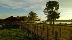 Mining Camp at Port Teluk Betung Central Kalimantan INDONESIA  #bridge #river #camp #indonesia