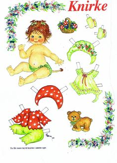 baby troll paper doll from inkspired musings: Fantasy Cottages with Fairies