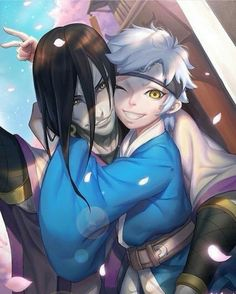Awwww...orochimaru deserve to be happy afterall❤