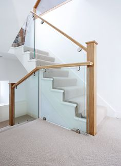 This beautiful Opus steel staircase has a truly unique balustrade which has been constructed combining strong steel spindles. Oak Handrail, Staircase Handrail, Modern Staircase, Staircase Design, Staircase Ideas, Loft Staircase, Iron Staircase, Railing Ideas, Glass Stairs Design