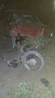 NONATO NOTÍCIAS: Ponto Novo: Acidente entre carro e moto deixa um m...