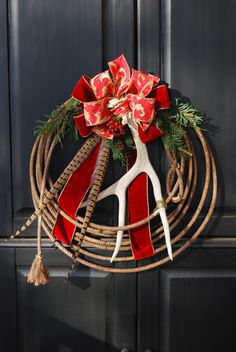 Antler rope wreath.