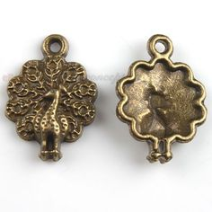 70pcs New Vintage Bronze Peacock Charms Alloy Pendants Jewelry Findings Crafts J