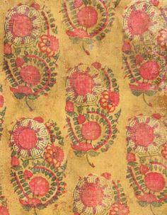 Detail – Wood block print cotton textile, circa 1800 (or before), Delhi