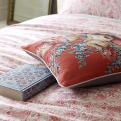 JIGSAW CORAL BELLE DUVET COVER DOUBLE: Amazon.co.uk: Kitchen & Home