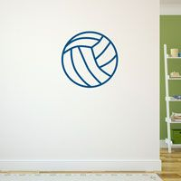 Volleyball Ball Removable ChalkTalkGraphix Wall Decal, coolest volleyball wall stickers